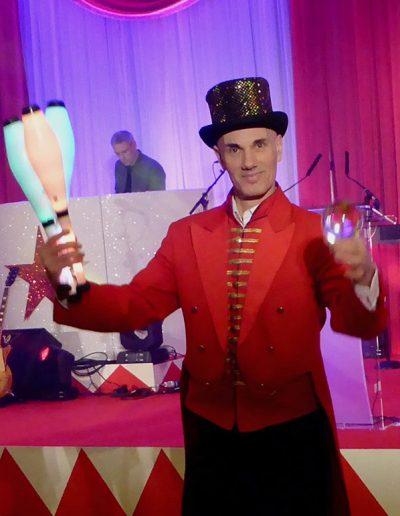 Circus Theme Performer Juggler Act