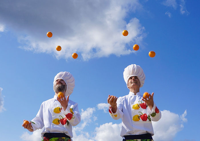 Food Event Sky High Chefs Juggling Act