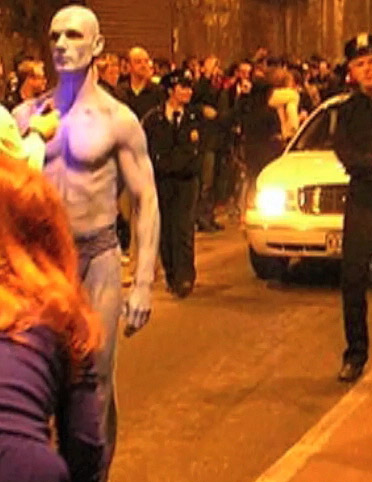 Role in DR Manhattan Film Watchmen