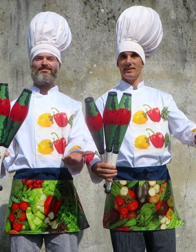 Food Comedy Juggling Chefs for Events