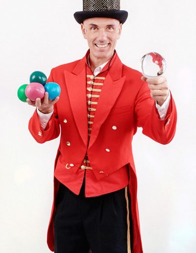 Greatest Showman Contact Juggler London