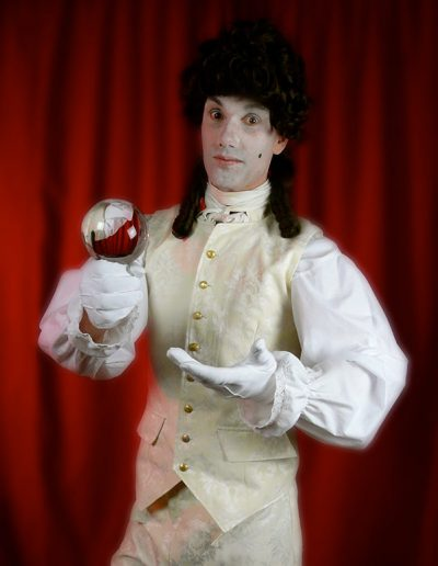 Masquerade Venetian Themed Contact Juggling Act