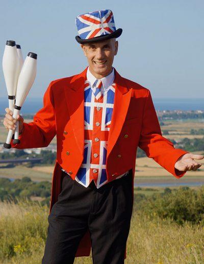 British Themed Juggler Act London UK