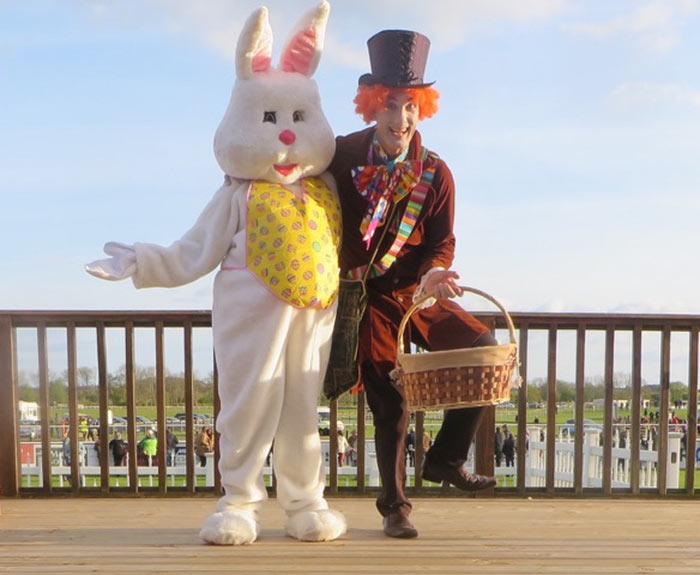 Easter Bunny Mad Hatter Walkabout Act
