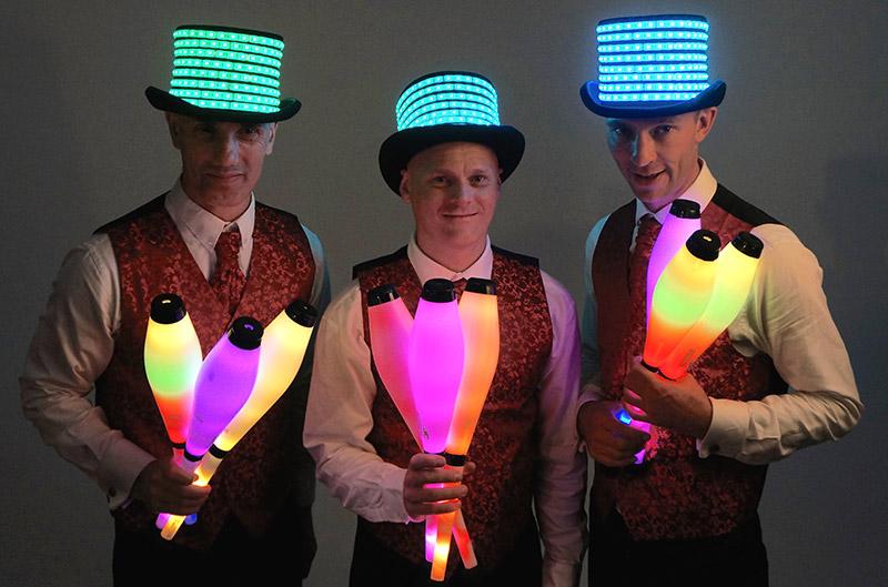 Glow Jugglers Corporate Juggling Act