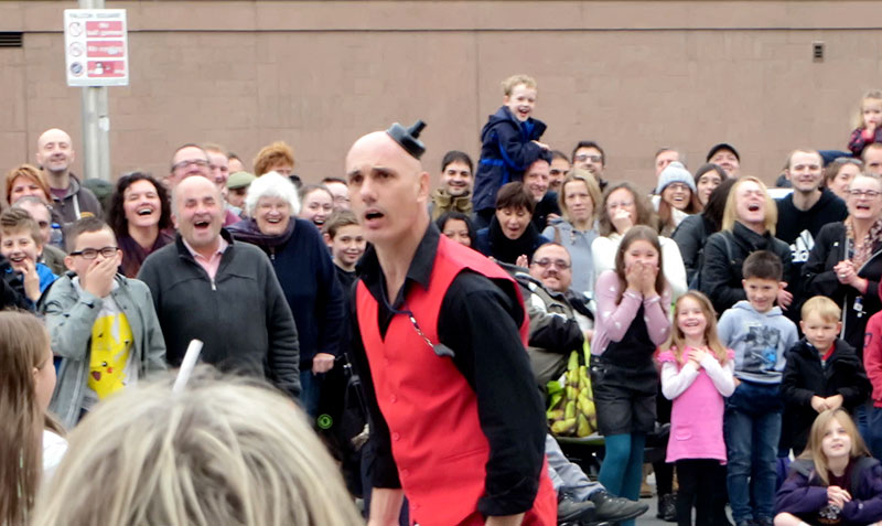 Family Street Performance Show in Latvia