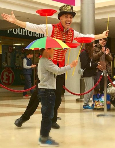Plate Spinning Circus Act UK